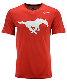 Nike Men's SMU Mustangs Dri-Fit Legend 2.0 Logo T-Shirt