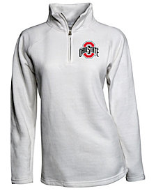 J America Women's Ohio State Buckeyes Fleece Quarter-Zip Pullover