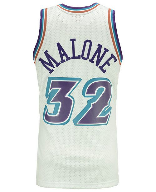 best cheap bc619 ea171 Men's Karl Malone Utah Jazz Hardwood Classic Swingman Jersey