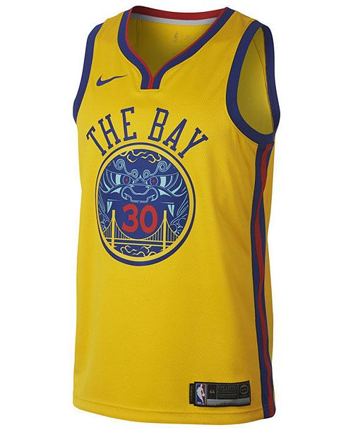 watch 0b306 de750 Nike Men's Stephen Curry Golden State Warriors City Swingman ...