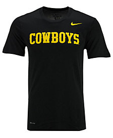 Nike Men's Wyoming Cowboys Dri-Fit Legend Wordmark T-Shirt