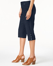 Style & Co Snap-Button Capri Pants, Created for Macy's