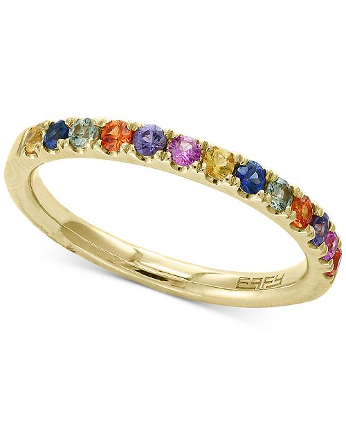 EFFY Collection Watercolors by EFFY® Multi-Sapphire Band (5/8 ct. t.w.) in 14k Gold (Also Available In Pink Sapphire)