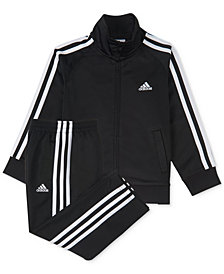 adidas 2-Pc. Three-Stripe Track Suit, Baby Boys
