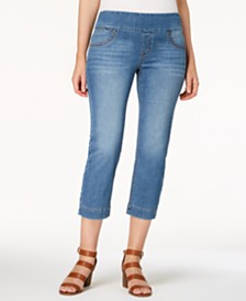 Style & Co Petite Ella Pull-On Capri Jeans, Created for Macy's