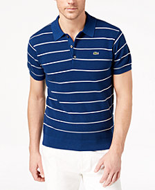 Lacoste Men's Mixed-Knit Stripe Sweater Polo