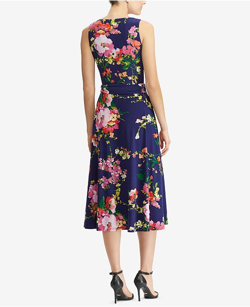 eb416146392 Lauren Ralph Lauren Floral-Print Fit & Flare Dress & Reviews ...