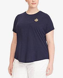 Lauren Ralph Lauren Plus Size Crew-Neck Short-Sleeve T-Shirt