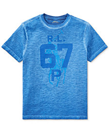 Ralph Lauren Graphic Slub Jersey Cotton T-Shirt, Big Boys