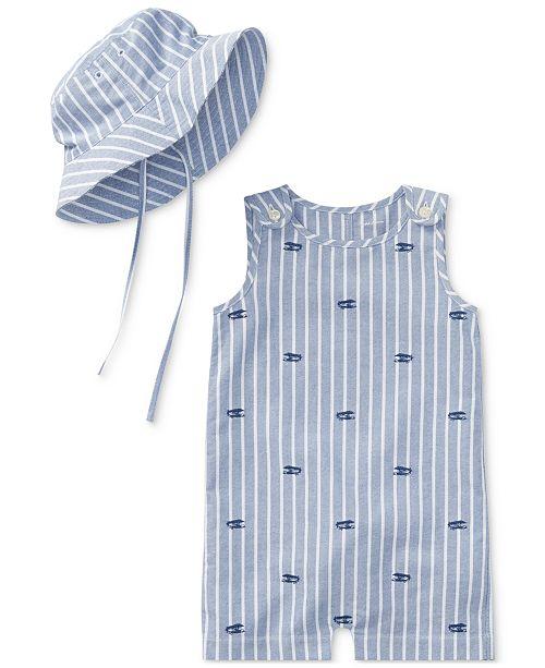 Polo Ralph Lauren Ralph Lauren Cotton Romper   Hat Set cb8e7374e7d