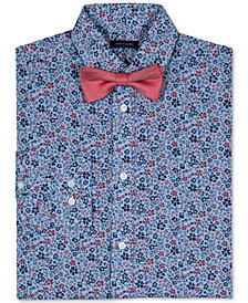 Tommy Hilfiger Floral-Print Long Sleeve Shirt & Bowtie, Big Boys