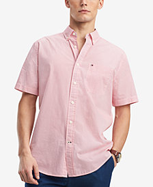 Tommy Hilfiger Men's Hansen Custom-Fit Geo-Print Pocket Shirt, Created for Macy's