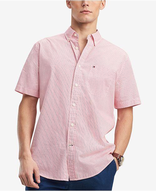 3cd237c0 ... Tommy Hilfiger Men's Hansen Custom-Fit Geo-Print Pocket Shirt, Created  for Macy's ...