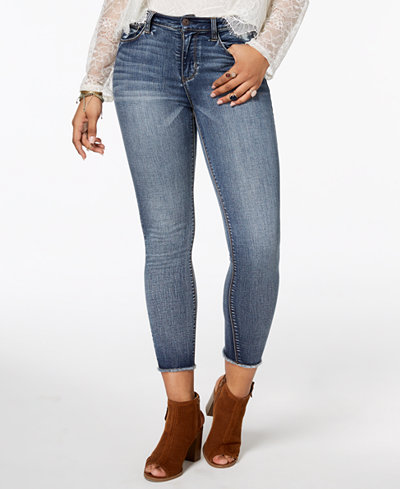 American Rag Juniors' Cropped High-Rise Skinny Jeans, Created for Macy's