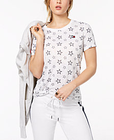 Tommy Hilfiger Sport Star-Print T-Shirt, Created for Macy's