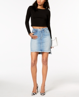 Joes Jeans HighLow Denim Pencil Skirt