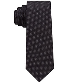 DKNY Men's Textured Dash Slim Tie