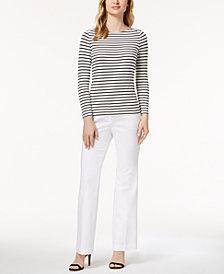 Anne Klein Striped Top & Sailor Pants