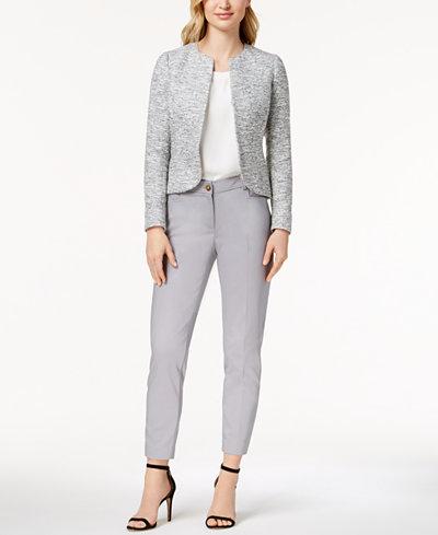 Anne Klein Tweed Blazer, Shell & Slim-Fit Pants