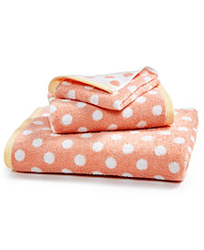 Martha Stewart Collection Cotton Dot Spa Fashion Bath Towel, Created for Macy's