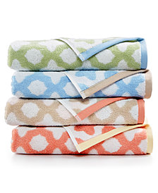 Martha Stewart Collection Cotton Spa Fashion Tile Bath Towel Collection, Created for Macy's