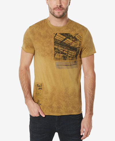 Buffalo David Bitton Men's Graphic-Print Patch T-Shirt