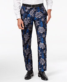 I.N.C. Men's Slim-Fit Brocade Pants, Created for Macy's