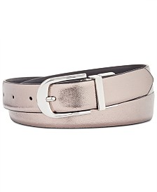 I.N.C. Reversible Plus-Size Belt, Created for Macy's