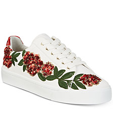 I.N.C. Women's Sanice Embroidered Sneakers, Created for Macy's