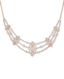 "Wrapped in Love™ Diamond Pavé Marquise Cluster 17"" Statement Necklace (2 ct. t.w.), Created for Macy's"