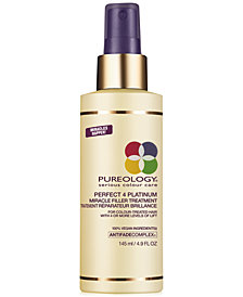 Pureology Perfect 4 Platinum Miracle Filler Treatment, 4.9-oz., from PUREBEAUTY Salon & Spa