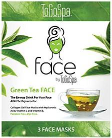 ToGoSpa Green Tea Face Collagen Gel Mask, from PUREBEAUTY Salon & Spa