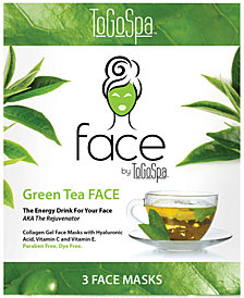 ToGoSpa Green Tea Face Collagen Gel Mask, from PUREBEAUTY Salon & Spa