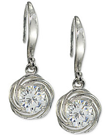 Giani Bernini Cubic Zirconia Drop Earrings in Sterling Silver, Created for Macy's