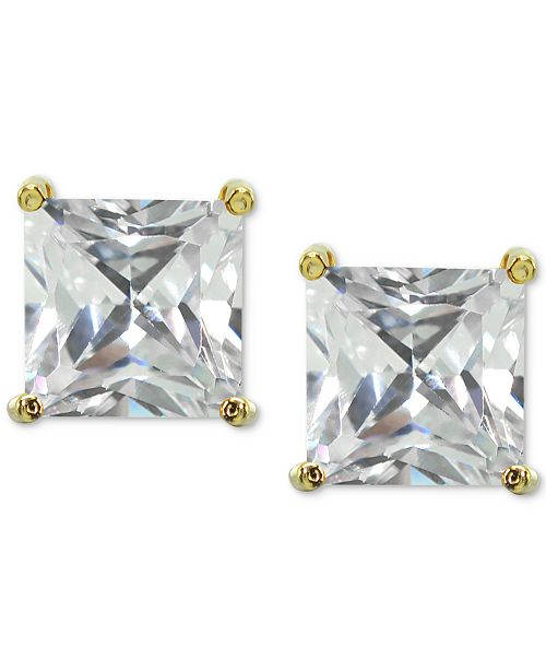 Product Details Glam It Up To Full Brilliance With These Square Cubic Zirconia Stud Earrings