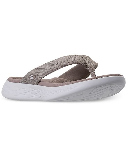 Skechers On the GO 600 Preferred Thong Sandal(Women's) -Gray/Pink Excellent Cheap Price BoOQb6J