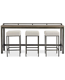 Channing 4-Pc. Table Set (Console Table & 3 Stools)