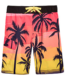 Hawke & Co. Outfitter Palm-Print Swim Trunks, Big Boys