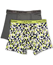 Calvin Klein 2-Pk. Cotton Boxer Briefs, Little Boys & Big Boys