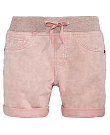 Vanilla Star Big Girls Denim-Look Knit Shorts