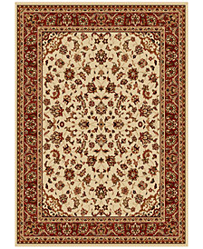 CLOSEOUT! KM Home Pesaro Kashan Ivory/Brick Area Rug Collection