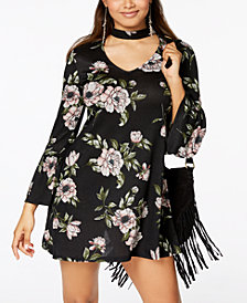 American Rag Juniors' Printed Choker Swing Dress, Created for Macy's