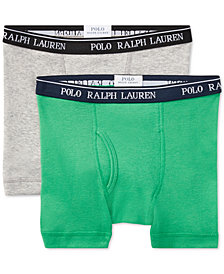 Polo Ralph Lauren 2-Pack Boxer Brief Underwear, Little & Big Boys