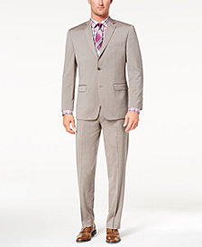 Marc New York by Andrew Marc Men's Classic-Fit Stretch Tan Solid Suit