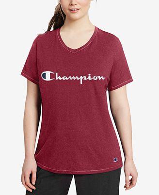 Champion Plus Size Logo T Shirt Tops Plus Sizes Macys