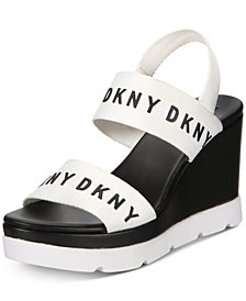 DKNY Cati Slingback Wedge Sandals, Created for Macy's