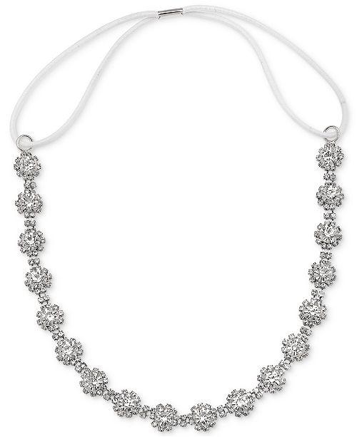 c319aea8d36 Jewel Badgley Mischka Badgley Mischka Silver-Tone Crystal Cluster Headband