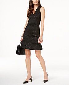 MICHAEL Michael Kors Embossed Faux-Leather Dress
