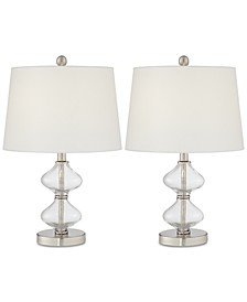 Set of 2 Glass Spiral Table Lamps, Created for Macy's