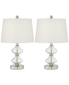 Pacific Coast Set of 2 Glass Spiral Table Lamps, Created for Macy's